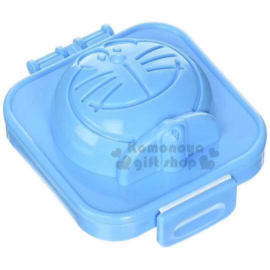 〔小禮堂〕哆啦A夢日製塑膠水煮蛋模具《藍.大臉》可製冰.模型
