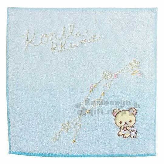 〔小禮堂〕拉拉熊純棉小方巾《藍.貝殼.企鵝》25x25cm.手帕