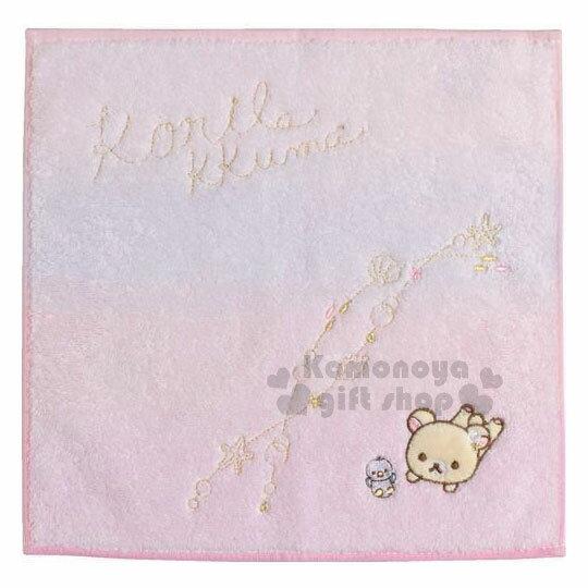 〔小禮堂〕拉拉熊純棉小方巾《粉.貝殼.企鵝》25x25cm.手帕