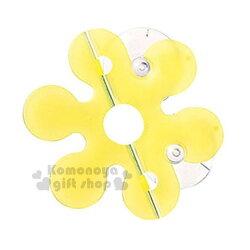 〔小禮堂〕Marna 日製花瓣型吸盤式牙刷收納架《黃.盒裝》牙刷架