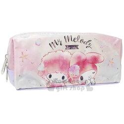 〔小禮堂〕美樂蒂 帆布拉鍊筆袋《渲染.小羊.海洋風》收納包.化妝包.萬用包