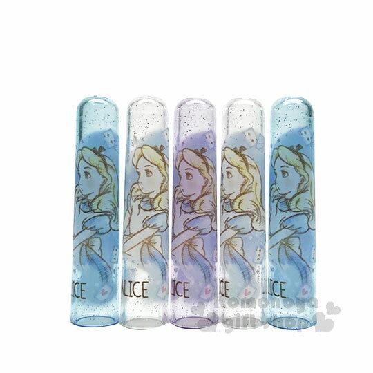 〔小禮堂〕迪士尼 愛麗絲 日製筆蓋組《5入.藍紫.透明.側臉》