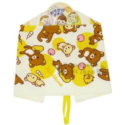 〔小禮堂〕拉拉熊 懶懶熊 純棉兒童擦手巾《黃.翹腳.蘋果》擦嘴巾.圍兜兜.可掛