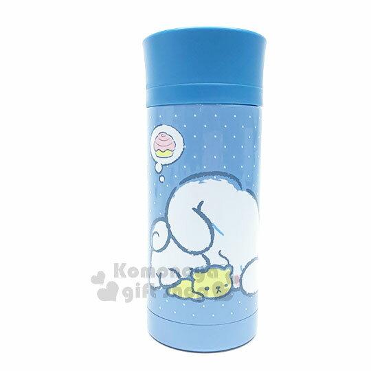 〔小禮堂〕大耳狗不鏽鋼保溫瓶《藍.點點.趴姿.想肉桂捲》350ml.保溫保冷.水壺
