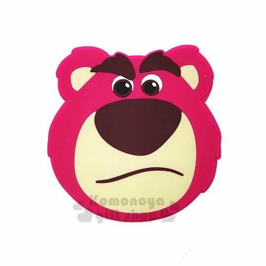 〔小禮堂〕迪士尼熊抱哥矽膠造型無線充電器《粉.大臉》行動電源