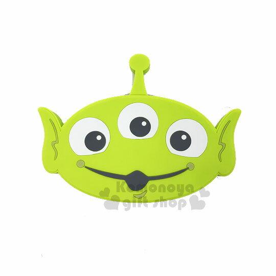 〔小禮堂〕迪士尼三眼怪矽膠造型無線充電器《綠.大臉》行動電源