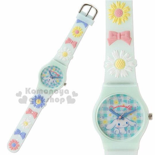 〔小禮堂〕大耳狗兒童造型矽膠手錶《淺藍.花.蝴蝶結》腕錶.精緻盒裝