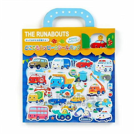 〔小禮堂〕RB工程車遊戲貼紙組《M.黃藍.地圖.提把》泡棉貼紙