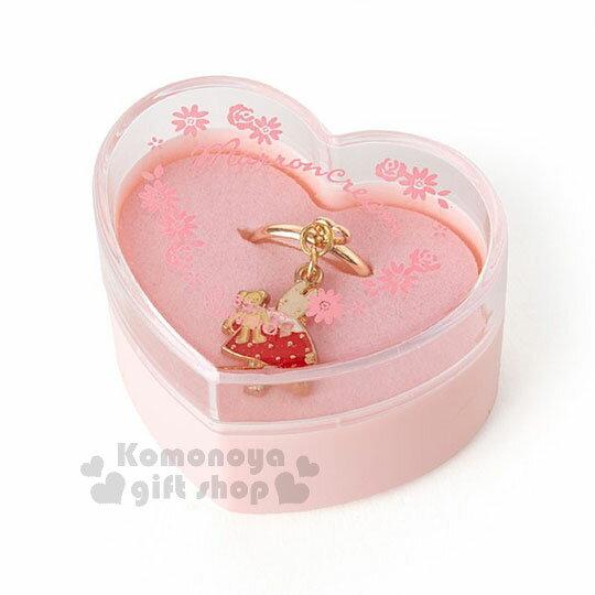 〔小禮堂〕兔媽媽造型合金戒指《粉.站姿》附造型收納盒.戒圍可調