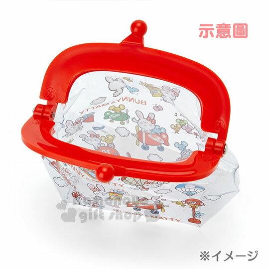 〔小禮堂〕Sanrio 小詩人 防水口金零錢包《粉.透明.抱兔子》收納包.錢包 2