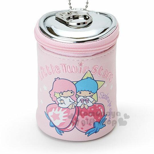 小禮堂 雙子星 罐頭造型化妝包《粉.草莓》吊飾.零錢包.收納包