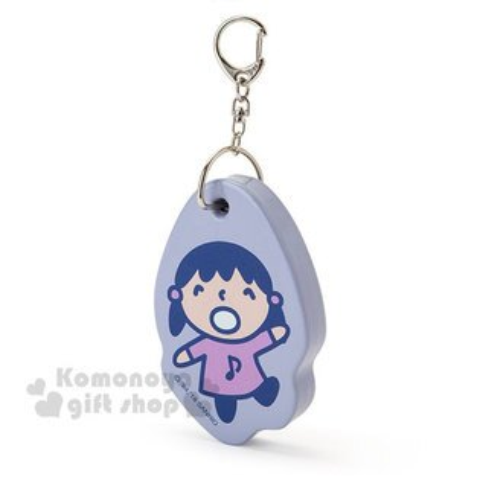 〔小禮堂〕大寶日製造型軟墊鑰匙圈《紫.站姿.招手》吊飾.掛飾.淘氣朋友系列