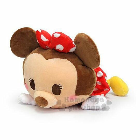 〔小禮堂〕迪士尼米妮絨毛玩偶娃娃《M.趴姿.Q版》擺飾品