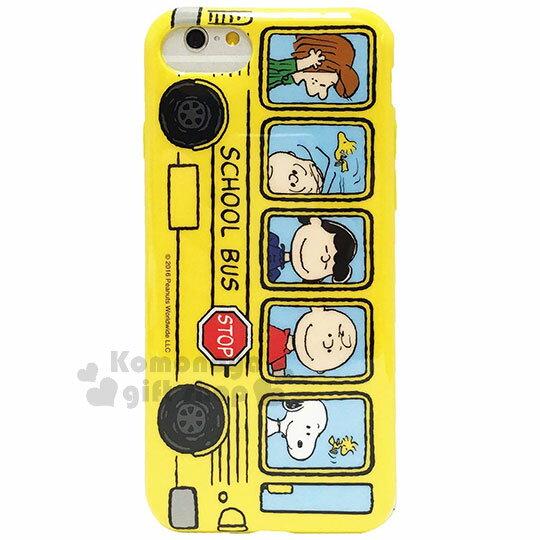 〔小禮堂〕史努比iPhone66s78Plus全包式塑膠手機殼《黃.公車》硬殼