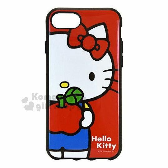 〔小禮堂〕HelloKittyiPhone66s78全包式塑膠手機殼《紅.蘋果》硬殼.日本IIIIfi+