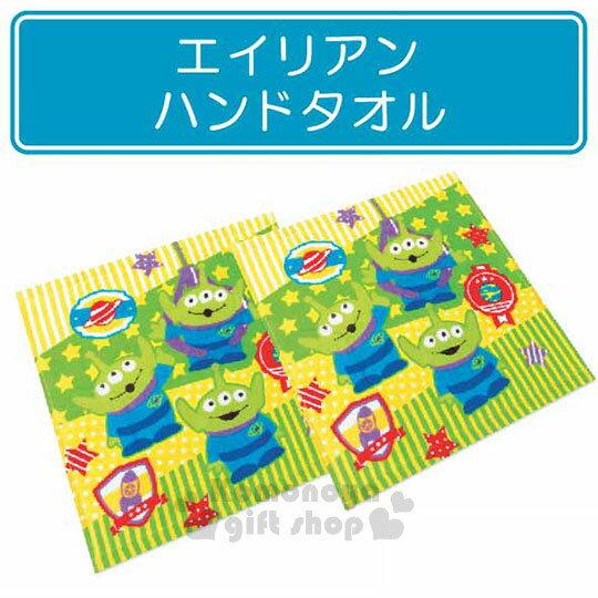 〔小禮堂〕迪士尼三眼怪棉質方形毛巾組《2入.黃綠.站姿》34x35cm