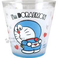 小叮噹週邊商品推薦〔小禮堂〕哆啦A夢 玻璃杯《藍.圓形.情書.多動作》水杯.精美盒裝