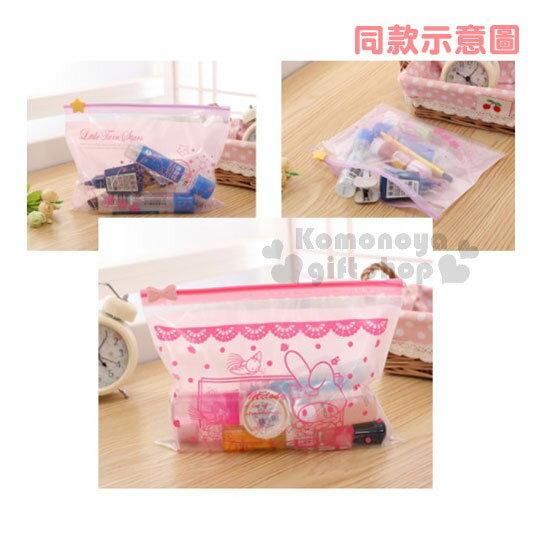 小禮堂 美樂蒂 透明夾鏈袋《S.15入.粉紫.草莓》透明袋.銅板小物