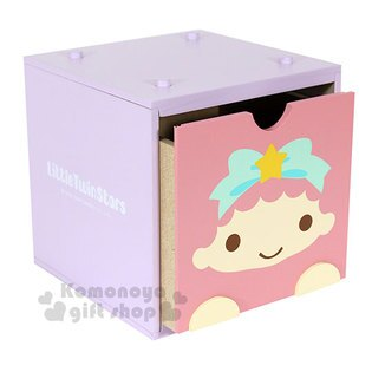 〔小禮堂〕雙子星積木式抽屜盒《粉.LALA.大臉》收納盒.置物盒.可推疊