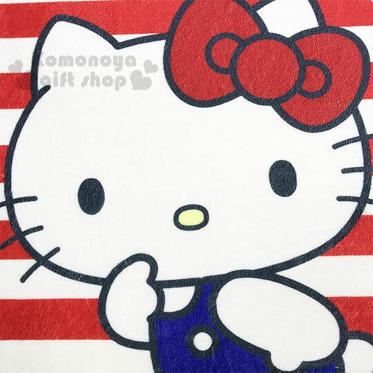 〔小禮堂〕Hello Kitty 腳踏墊《紅白.條紋.小熊》64x45cm.止滑海棉軟墊.地墊 1