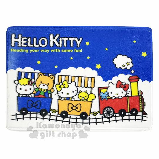〔小禮堂〕Hello Kitty 腳踏墊《藍白.火車.星星》64x45cm.止滑海棉軟墊.地墊 0