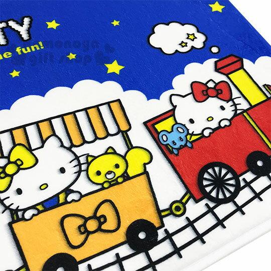 〔小禮堂〕Hello Kitty 腳踏墊《藍白.火車.星星》64x45cm.止滑海棉軟墊.地墊 1