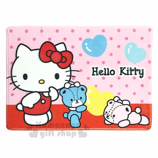 〔小禮堂〕Hello Kitty 腳踏墊《粉.點點.小熊》64x45cm.止滑海棉軟墊.地墊 0