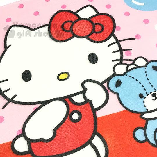 〔小禮堂〕Hello Kitty 腳踏墊《粉.點點.小熊》64x45cm.止滑海棉軟墊.地墊 1