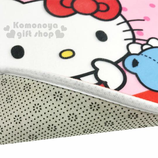 〔小禮堂〕Hello Kitty 腳踏墊《粉.點點.小熊》64x45cm.止滑海棉軟墊.地墊 2