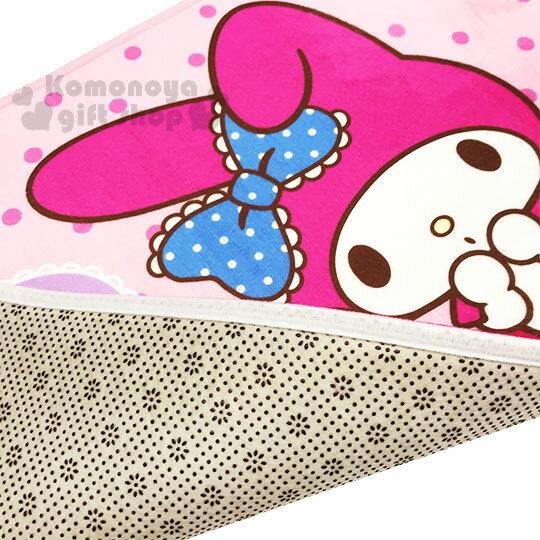 〔小禮堂〕美樂蒂 腳踏墊《粉.點點.小老鼠》64x45cm.止滑海棉軟墊.地墊 2