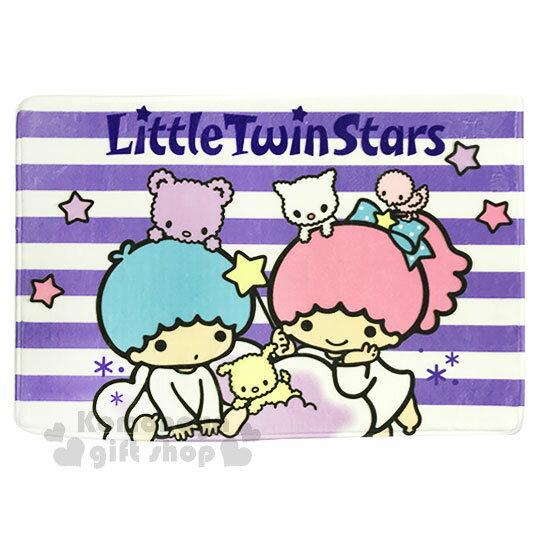 〔小禮堂〕雙子星 腳踏墊《紫白.條紋.小動物》64x45cm.止滑海棉軟墊.地墊 0