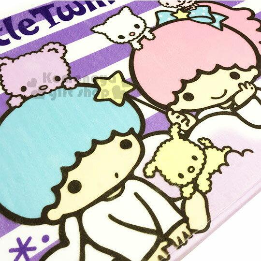 〔小禮堂〕雙子星 腳踏墊《紫白.條紋.小動物》64x45cm.止滑海棉軟墊.地墊 1