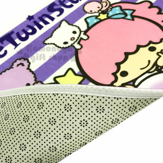〔小禮堂〕雙子星 腳踏墊《紫白.條紋.小動物》64x45cm.止滑海棉軟墊.地墊 2