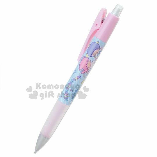 〔小禮堂〕雙子星 日製搖搖自動鉛筆《粉藍.牽手.條紋》0.5mm.搖搖筆