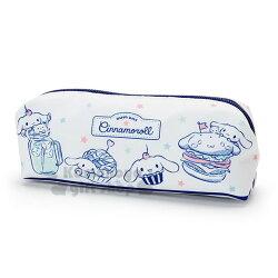 〔小禮堂〕大耳狗 尼龍拉鍊筆袋《藍白.食物.星星》收納袋.化妝包.鉛筆盒
