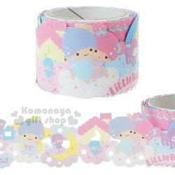 〔小禮堂〕雙子星 蕾絲寬版紙膠帶《粉.雲朵.彩虹》30mmx5m.裝飾.包裝禮物