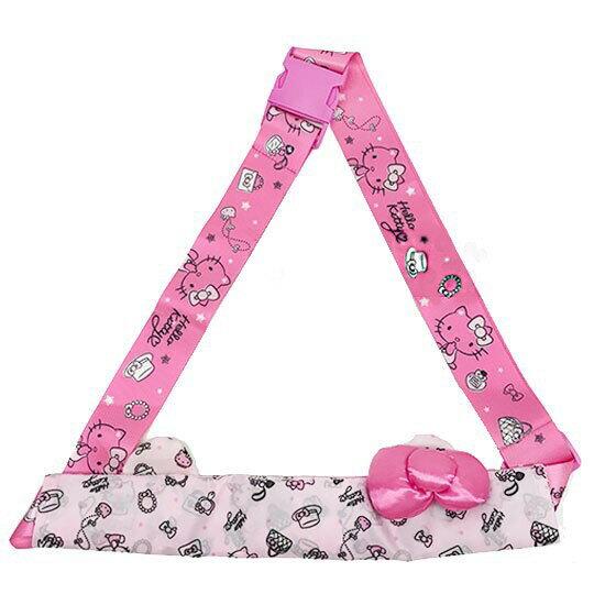 〔小禮堂〕Hello Kitty 兩用行李束帶《粉.多圖》可變側背袋.旅行箱束帶.綁帶 0