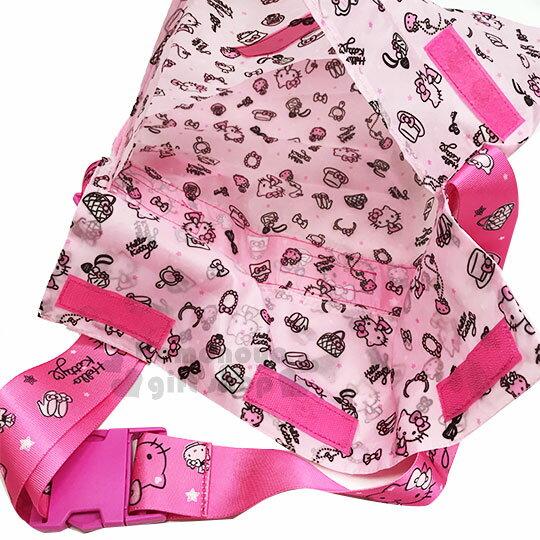 〔小禮堂〕Hello Kitty 兩用行李束帶《粉.多圖》可變側背袋.旅行箱束帶.綁帶 3