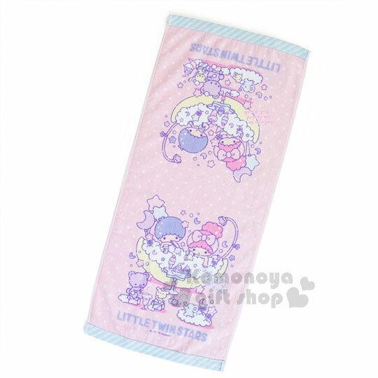 〔小禮堂〕雙子星純棉長毛巾《粉藍.點點.朋友》34x76cm.澡晨時光系列