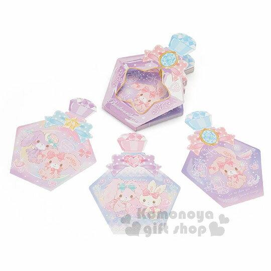 〔小禮堂〕蹦蹦兔 日製造型香水便條本《紫.蝴蝶結》3種圖案.便條紙 0