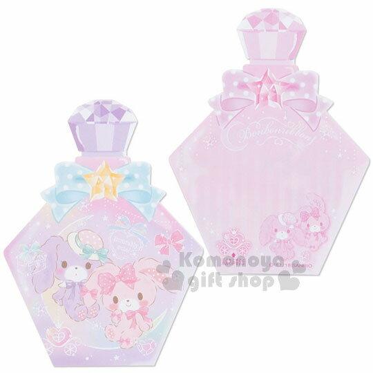 〔小禮堂〕蹦蹦兔 日製造型香水便條本《紫.蝴蝶結》3種圖案.便條紙 3