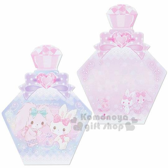 〔小禮堂〕蹦蹦兔 日製造型香水便條本《紫.蝴蝶結》3種圖案.便條紙 4