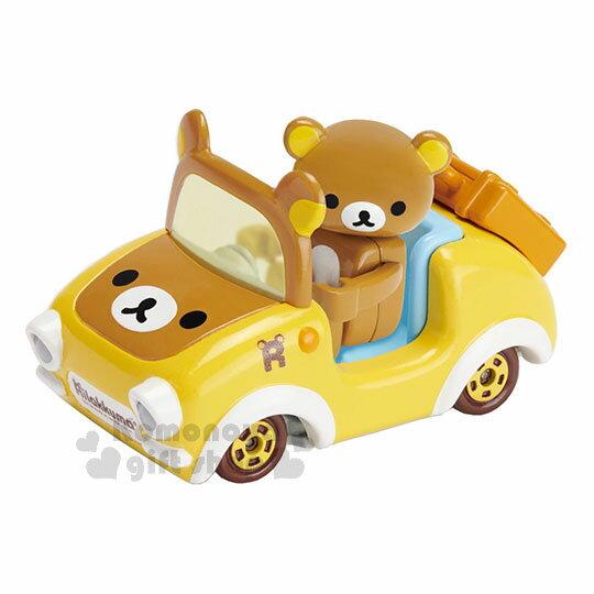 〔小禮堂〕拉拉熊懶懶熊TOMICA小汽車《黃.敞篷車》模型.玩具.公仔