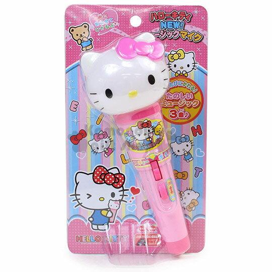 小禮堂 Hello Kitty 麥克風玩具《粉.大臉.泡殼裝》3歲以上適用