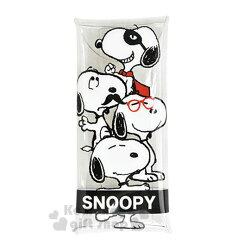 〔小禮堂〕史努比 日製防水直式筆袋《黑白.透明.多裝扮》筆盒.化妝包.雙扣式