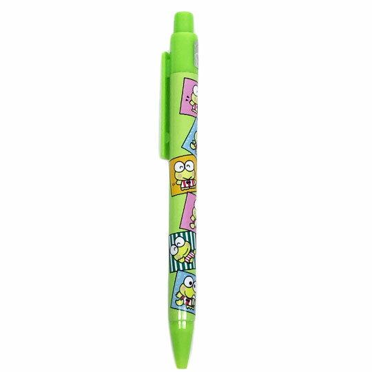 〔小禮堂〕大眼蛙 自動原子筆《綠.方框.多動作》藍筆.自動筆 0