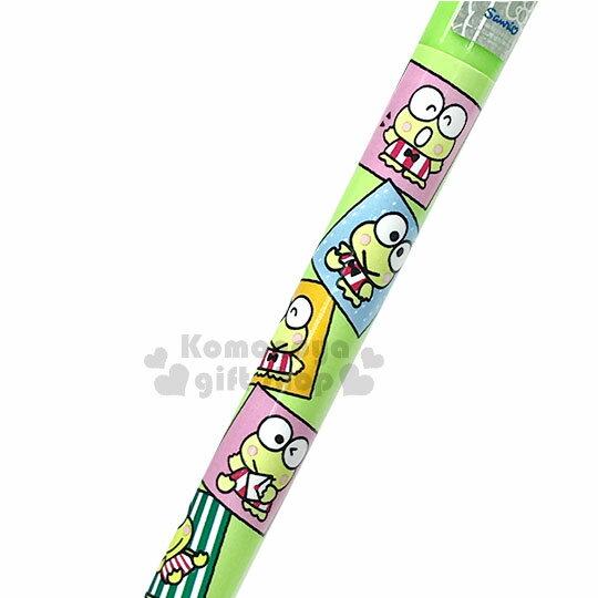 〔小禮堂〕大眼蛙 自動原子筆《綠.方框.多動作》藍筆.自動筆 1