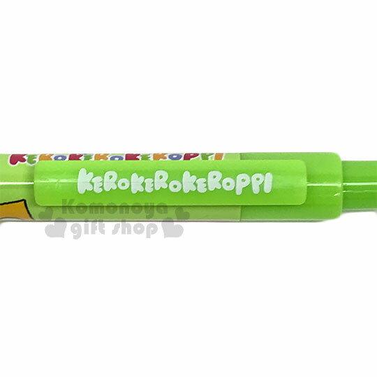 〔小禮堂〕大眼蛙 自動原子筆《綠.方框.多動作》藍筆.自動筆 2