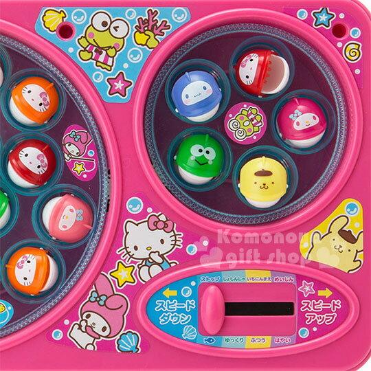 〔小禮堂〕Sanrio大集合 釣魚玩具機《粉.雙魚池》盒裝.多人玩具 2