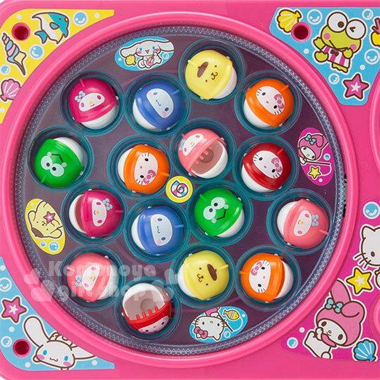 〔小禮堂〕Sanrio大集合 釣魚玩具機《粉.雙魚池》盒裝.多人玩具 3